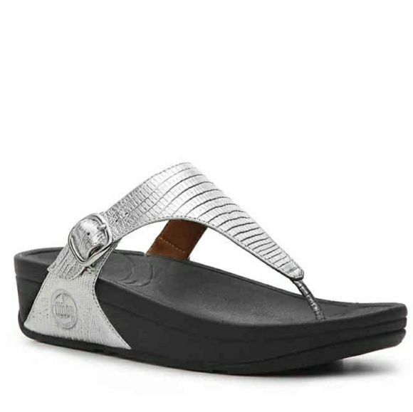 bf07c0eec3006 Fitflop Shoes - FITFLOP silver metallic skinny thong sandal
